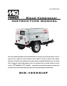 Air Compressor Manual